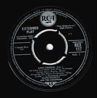 ELVIS PRESLEY King Creole Vol. 1 EP Vinyl Record 7 Inch RCA 1961